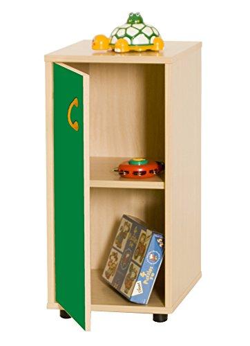 Mobeduc 600216HPS21-Mobile per sotto/armadio a 2 ripiani, in legno, colore: verde scuro/Naturale legno, 40 x 36 x 76,5 cm