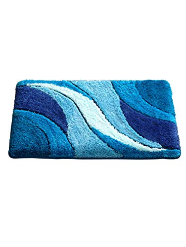 Webschatz Badematte, Sylt blau 50x90 Motiv Mehrfarbig rutschhemmend beschichtet