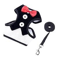 ペットの犬は牽引ロープ ペットの服の犬のマルチスタイルのドレスの弓のベストで胸ベルトの襟を利用します