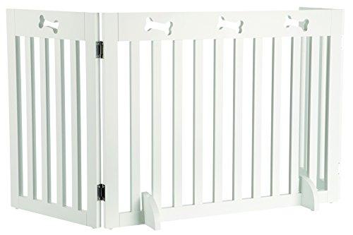 Trixie 39456 Hunde-Absperrgitter, MDF, 3-teilig, 82–124 × 61 cm, weiß
