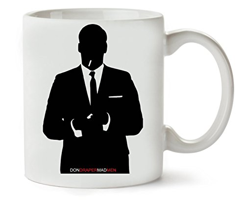 PC Hardware Store Black Mad Men Silhouette Taza para Café Y Té