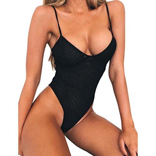 Bluestercool Monokini Donna Push Up Sexy Costume Intero da Mare
