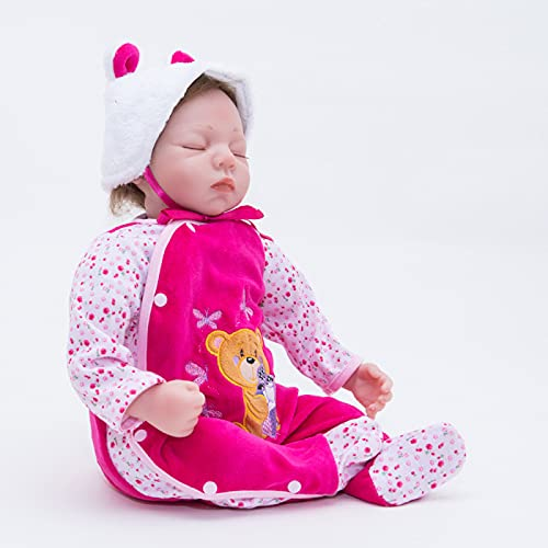 Baby Reborn, 22 In/55 cm Silicone Baby, Cute and Realistic Toy Doll - for Good Gift to Your Kid Or Friend