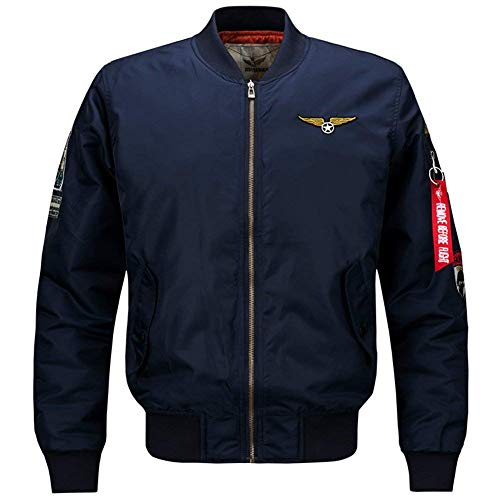 Adelina Heren herfst winter dik bomberjack warm Air Force jongens patches lichte bomber jas mannen Ntel Mens Light Jacket Coat