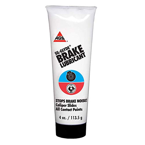AGS SIL-Glyde 4 oz Tube Silicone Based Brake Assembly Lubricant for Eliminating Disc Brake Squeal - Moisture Proof, Heat Resistant, Rust and Corrosion Protector
