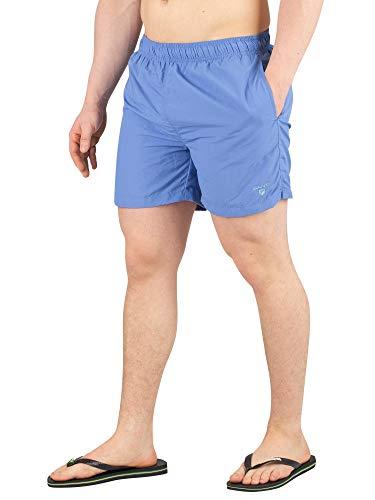 GANT Herren Basic Swimshorts Classic Fit Badehose, Blau (Mid Blue 437), X-Large (Herstellergröße: XL)