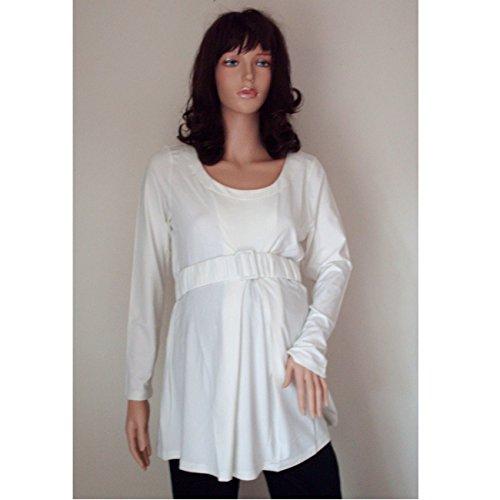 Fischer Kollektion Umstandsmode: Umstands-Sweatshirt, off-white, Gr. 40-44 (42)
