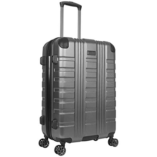 Kenneth Cole Reaction Scott's Corner Hardside Expandable 8-Wheel Spinner TSA Lock Travel Suitcase, Charcoal, 24-inch Checked