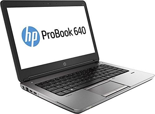 2017 HP EliteBook 640 G1 14' HD Anti-Glare Notebook Laptop, Intel Core I5-4200M Up to 3.1GHz, 8GB RAM, 128GB SSD, DVDRW, USB 3.0, Bluetooth, Webcam, Windows 10 Professional (Certified Refurbished)