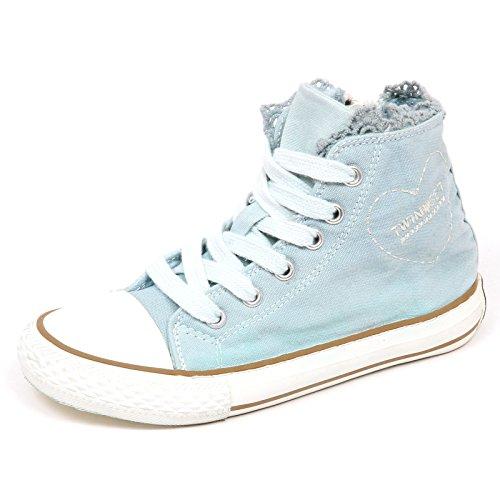 E6604 Sneaker Bimba Tissue Twin-Set Simona BARBIERI Light BLU Shoe Kid Girl