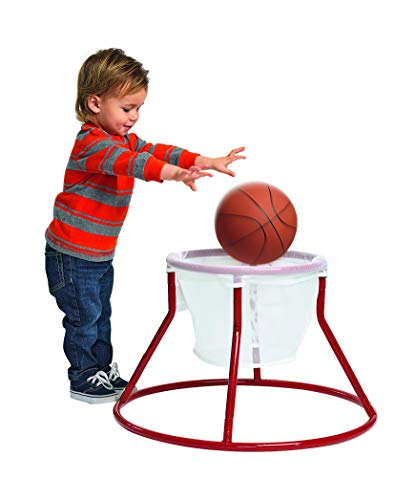 Excellerations Oversized Rim, Easy Score Basketball Hoop Set for Toddlers and Kids Toy Slamdunk