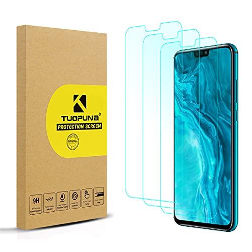 Tuopuna [3 Packs Compatible for Honor 9X Lite Schutzfolie, [die Hälfte Deckung] 9H Härte Ultra-klar Screen Protector, Keine Blasen panzerglas for Honor 9X Lite/honro 8X/ Honor View 10 Lite
