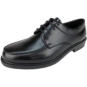 [デクト] ビジネスシューズ レインシューズ 防水 雪 雨 幅広 4E EEEE フレッシャーズ ヒモ靴 紐靴 レースアップ ドレスシューズ 外羽根 25cm~28cm 大きいサイズ キングサイズ (27.5cm, ブラック)