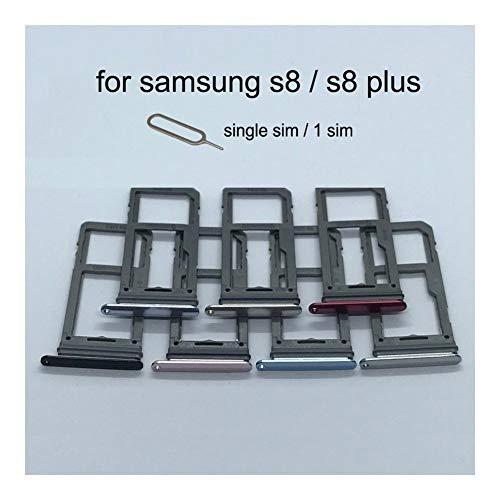 JLZK Buen Estado Titular de la Tarjeta SIM Bandeja SD Ranura For Tarjeta SD Adaptador Samsung Galaxy S8 Plus G950 G955 G950F G955F Original de la Cubierta del teléfono Nuevo Micro Tarjetas.