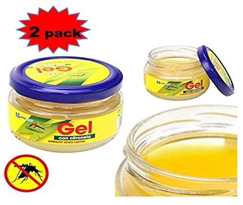 ML Pack de 2 Gel Citronela Gel Repelente Mosquitos