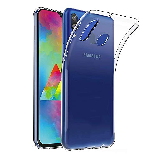 Amonke Transparent Kompatibel mit Samsung Galaxy M20 Hülle Silikon Durchsichtig Handyhülle TPU Dünn Stoßfest Fallschutz Bumper Slim Hülle Cover Schutzhülle für Samsung M20 6,3''
