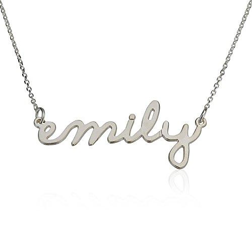 925 Silber Namenskette- Personalisiert mit Ihrem eigenen Namen klein Namenskette (45 cm)