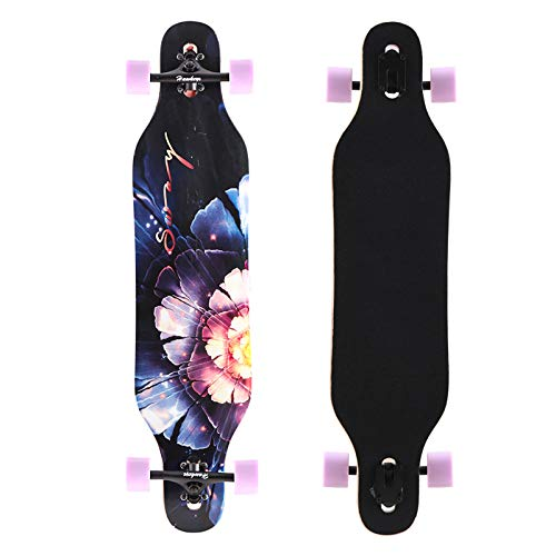 Hawkeye 41 inch Freeride Longboard 8 Layer Canadian Maple Wood Skateboard Complete Cruiser, Cruiser for Cruising, Carving, Freestyle and Downhill