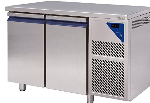 Gastlando - Premium Gastro Tiefkühltisch Edelstahl - 2 Türen - 230 Liter - 18° bis -22 °C