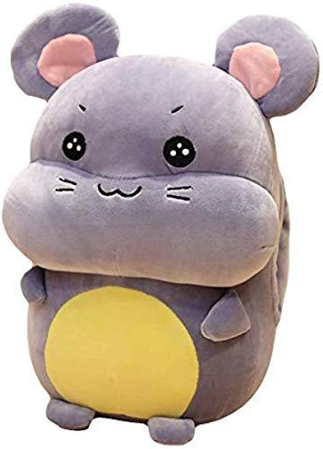 siyat Plüschspielzeug Schöne lächelnde Hamster Ratte Jahr Maskottchen Plüsch gefüllt Puppe Spielzeug Geschenk für Kinder Home Schlafsofa Bett Dekor grau lächelnd 32 cm Jikasifa