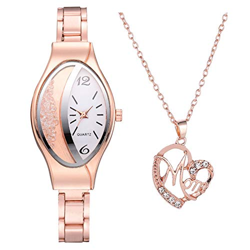 Necklace Watch Combination, Using Alloy, Not Easy to Rust & Damage, Easy to Match, for Valentine's Day Present