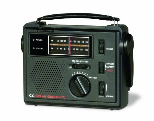 C. Crane CC Solar Observer Wind Up Solar Emergency Crank Radio with AM, FM, NOAA Weather, Built in LED Flashlight & Cellphone Charger