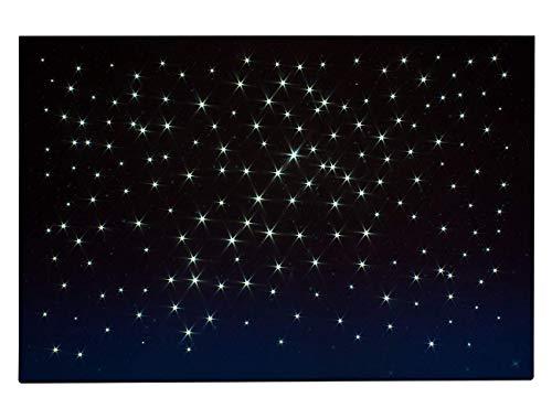 ROSSI ROSA Cielo Luminoso LED CM 60x40, Legno, Multicolore, 60 x 40 cm