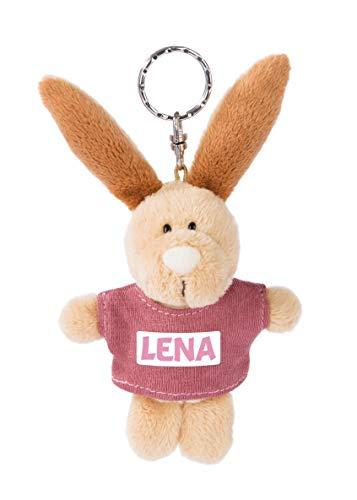 NICI 44635 Lena-Llavero con diseño de Conejo y Camiseta (10 cm), Color Beige