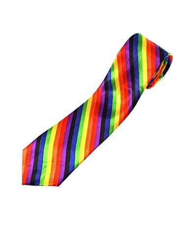 Zac's Alter Ego ® Cravate arc-en-ciel/rayures
