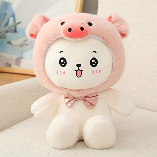 CPFYZH 25-60Cm Lindo Cerdo y Mono muñeco de Almohada de Peluche en la Cama durmiendo contigo muñeca Grande Regalo de niña-40Cm_Pig