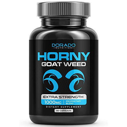 Premium Horny Goat Weed 1000mg [Extra Strength] Herbal Complex Extract for Men and Women – Maca Root & Tribulus - Optimum Dosage Capsules – USA Made by Dorado Nutrition