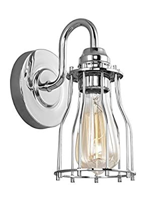 Feiss VS24001CH Calgary Industrial Vintage Wall Sconce Lighting
