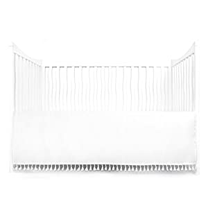 crib bedding and baby bedding tadpoles microfiber crib skirt with tassel, white