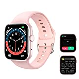 Kimnix Smart Watch, 1.72 in HD Full Touch Screen Smartwatch Pink Fitness Tracker with Call/Text/Heart Rate/Blood Pressure/Sleep Step Tracking, Fitness Watch for Android & iOS, Women Man