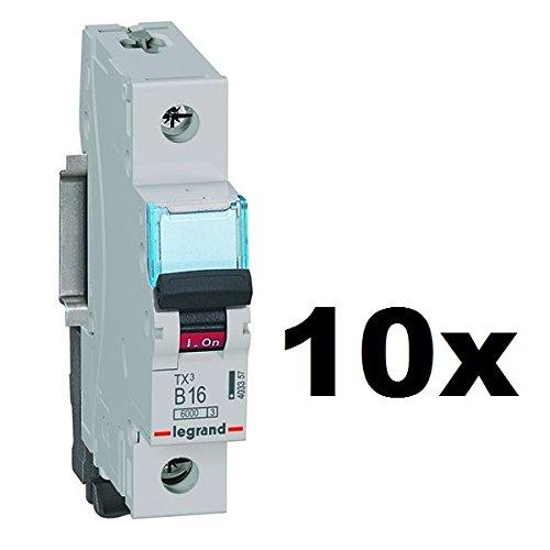 10x Legrand (4.03357) TX3 LS-Schalter B16A 1Polig 6kA 1Modul