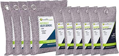 Best Prices! Charcoal Odor Eliminator Bags (10-Pack) | Activated Bamboo Charcoal Deodorizer | Natural Freshener Removes Odor &Moisture | Odor Eliminator for Car, Closet, Bathroom, Gym Bag, Shoes