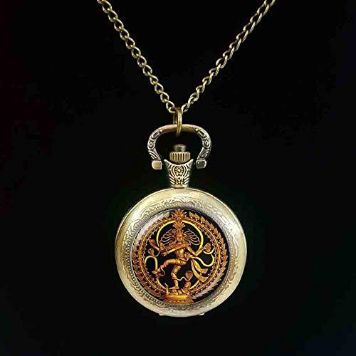 Danza De Buda De Oro De La Destrucción Lord Shiva Bolsillo Reloj De C