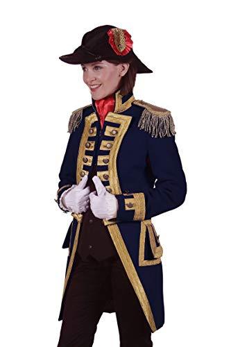 Thetru Damen Kostüm Admiral Jacke Garde Uniform blau Karneval Gr.M