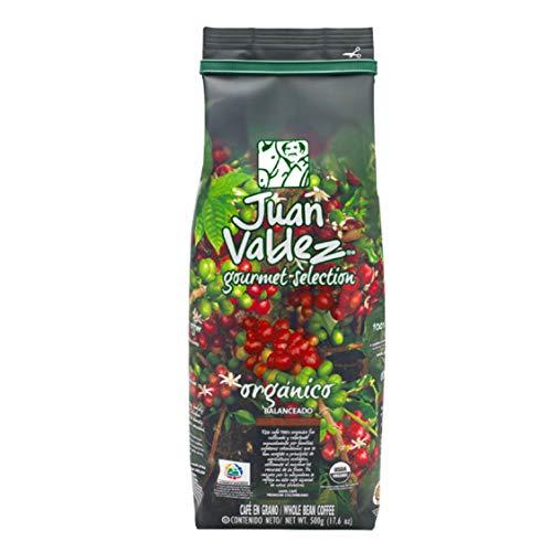 Juan Valdez Coffee Organic Gourmet Medium Roast Whole Bean Colombian Coffee 17.6 oz