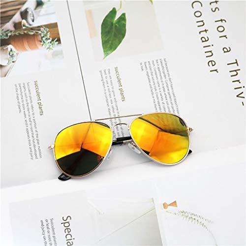 Happy Together Happy Together Gezeiten Kinder Studenten Sonnenbrillen Jungen und Mädchen Farbe reflektierende Sonnenbrillen Frosch Spiegel niedlichen Baby Kind Sonnenbrille (Farbe : G)