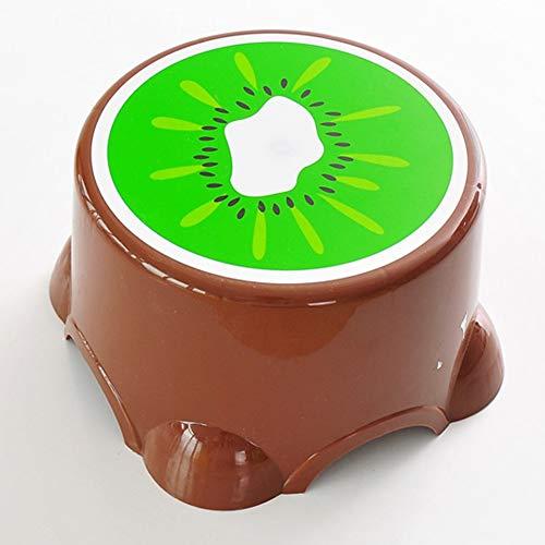 Lehrstuhl Schemel des kreativen Plastikfruchtschemelbabykindhockers niedliche kleine Bank des Karikaturfußbankhockers (Color : Kiwi, Size : Big)