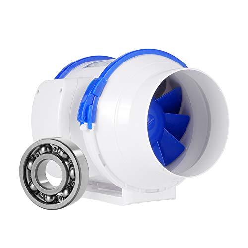 Ventiladores en línea, HG POWER 5  Ventilador de conducto de ventilación silencioso Max flujo de aire 280m3 h Extractor para baño, invernaderos, hidroponía