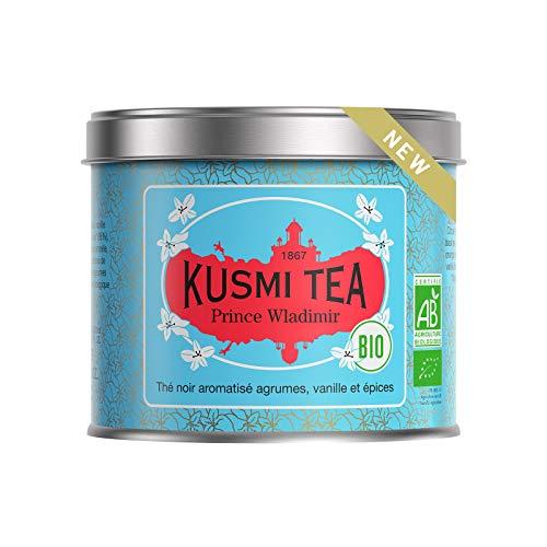 Kusmi Tea – Prinz Wladimir BIO – Bio Schwarzer Tee, aromatisiert - Zitrusfrüchte, Vanille und Gewürze - 100 g Metall Teedose (etwa 40 Tassen)