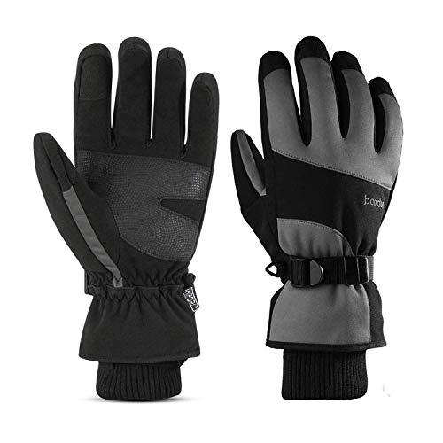 Everwell Skihandschuhe Herren Damen, Warm Touchscreen Winterhandschuhe Fahrradhandschuhe, Wasserdicht Winddicht Winter Handschuhe für Skifahren Radfahren Fahrrad Snowboard Outdoor-Sport