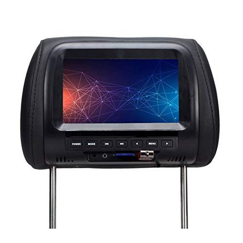 Ganquer Monitor Universal para automóvil con Respaldo USB de 7 Pulgadas con botón USB Duradero y botón táctil Digital HD Video(Black)