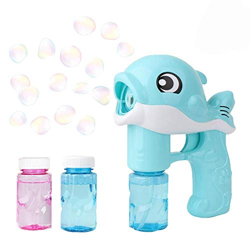 WELLXUNK Pistola de Burbujas de Agua, Pistola de jabón con Agua de...