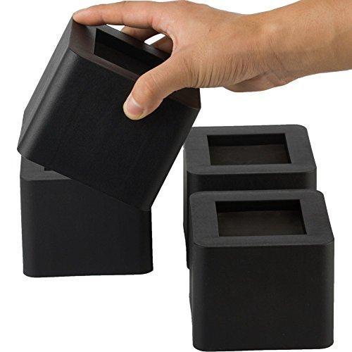 Uping Elevador de Muebles, Elevadores Ajustables para Camas, Mesas o Mobiliario, Agregue Altura de 8,5CM (4 pack, negro)