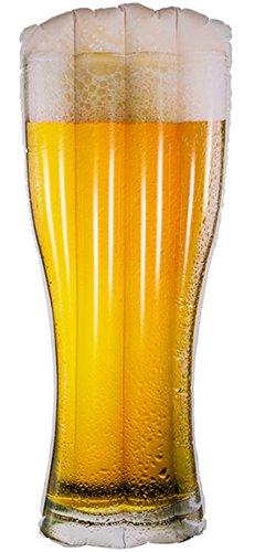Bada Bing Aufblasbare Luftmatratze Bierglas mit Krone Bier Männer Geschenk Beer Glas Garten Pool Deko JGA