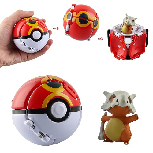 Esportic Poké Bolas Pokéball, Ball figuritas Poké Bolas Pokéball, Poké Bolas, Bola con Figuras Toys para niños