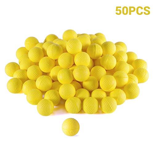 Hihey Bolas de Bala 50 Piezas de Recarga de munición de